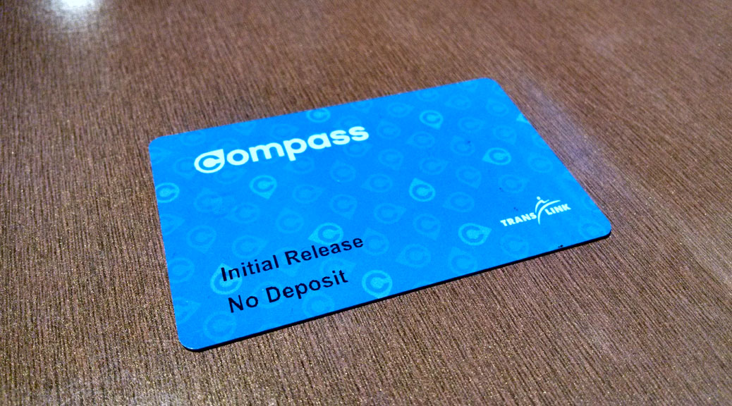 Finally tapping in using the Compass Card - Dennis Tsang