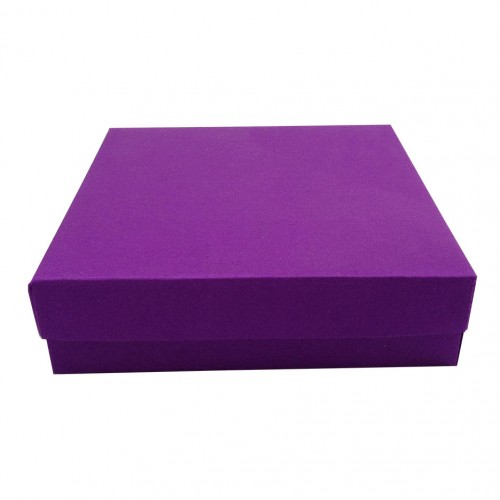 Violet Silk Mailing Box For Wedding Invitation Luxury