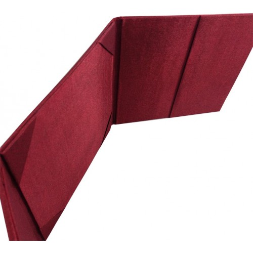 WINE RED FAUX SILK ENVELOPE WITH STAR BROOCH AND POCKETS FOR WEDDING