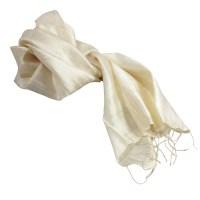 Ivory Raw Silk Scarves - Luxury Wedding Invitations ...