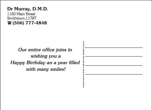 Address Side Layout Examples DentalPostcardsStudio