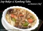 Resep Sup Bakso Kembang Tahu Ala Dentist Chef