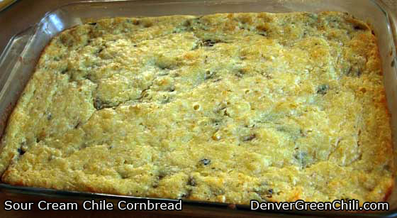 Sour Cream Chile Cornbread Recipe