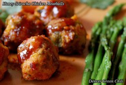Sriracha Honey Slow Cooker Chicken Meatballs