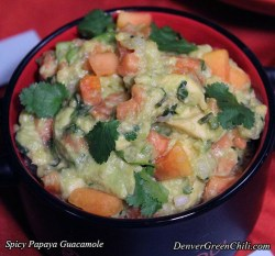 Papaya Lime Guacamole