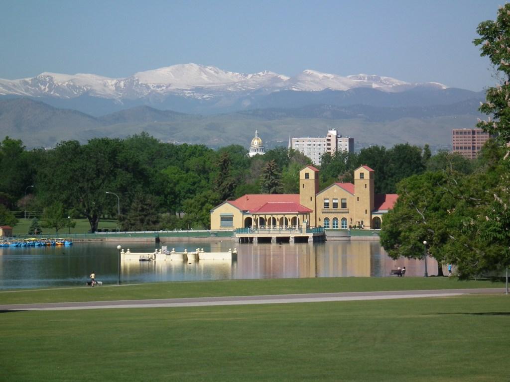 City Park & Denver capitol view