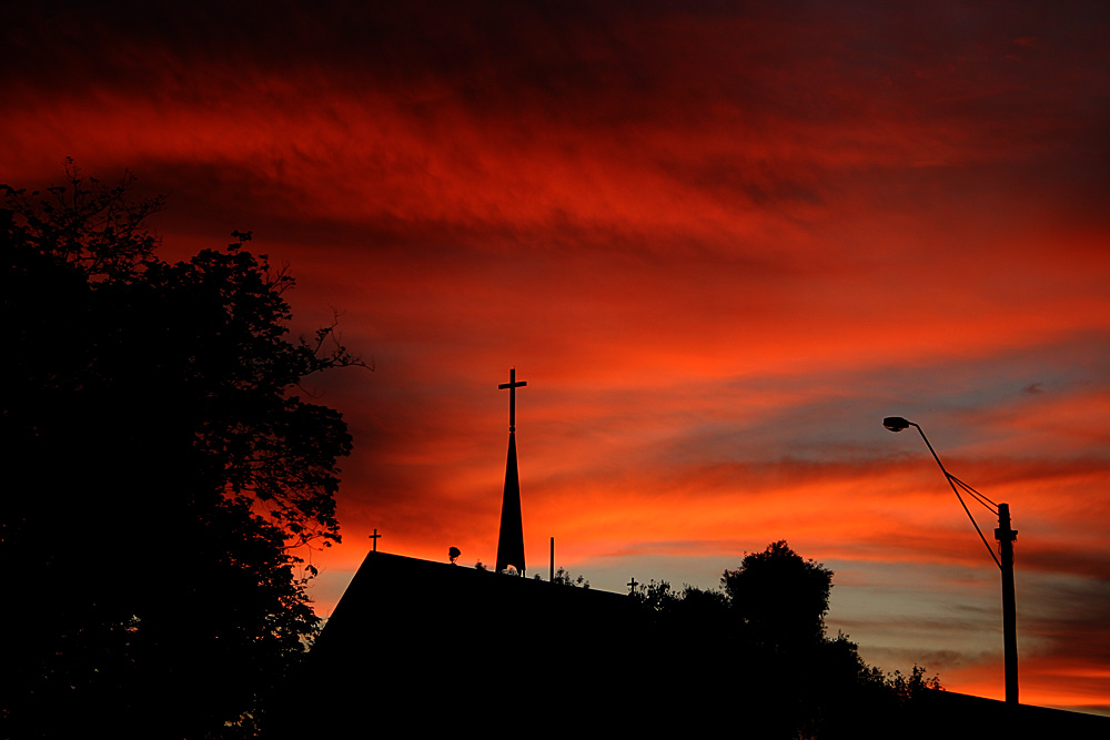Let It Be Quote Wallpaper Sunset Over Church Steeple Deography By Dylan O Donnell