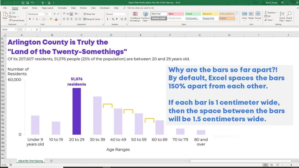 How to Adjust Your Bar Chart\u0027s Spacing in Microsoft Excel Depict