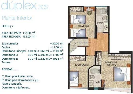 plano-departamento-duplex-132m2-segunda-planta