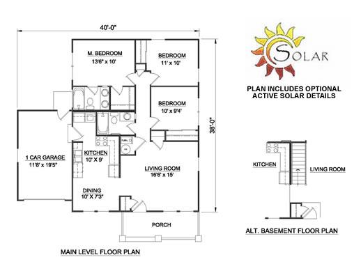Casa de 1 piso 3 habitaciones y 100 metros cuadrados - Plano piso 50 metros ...