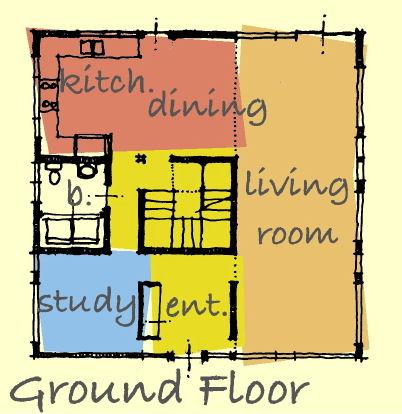 plano planta baja casa de 3 pisos