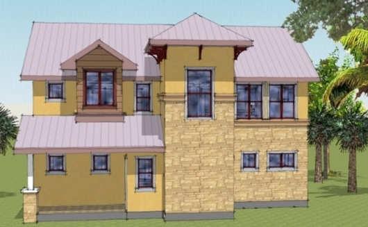 Casa de dos pisos, cuatro dormitorio y 187 metros cuadrados