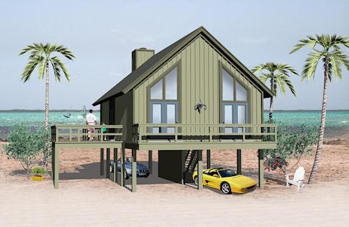 Casa de playa de dos dormitorio y 78 metros cuadrados