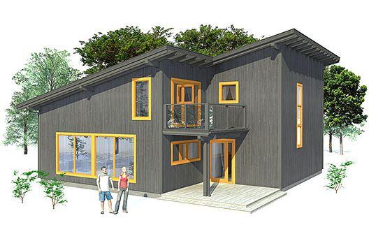 Casa moderna de dos pisos tres dormitorios y 153 metros for Piso 3 habitaciones alcobendas