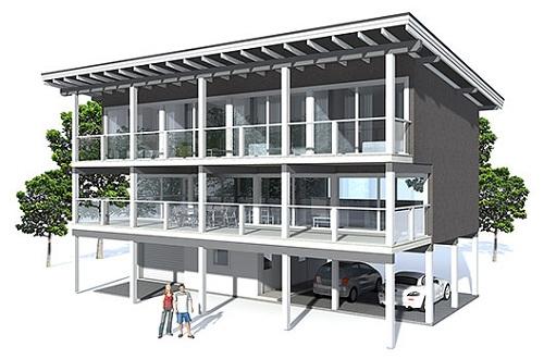 Casa moderna grande, de tres dormitorios y 189 metros cuadrados