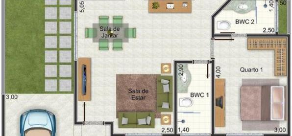 Casa sencilla de una planta, tres dormitorios y 95 metros ...