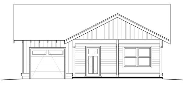 Interesante plano de casa de una planta, tres dormitorios y 109 metros cuadrados