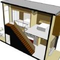 Casa de dos plantas y 62 metros cuadrados