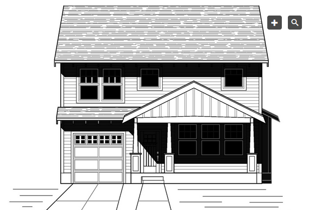 Plano de linda casa de dos plantas tres dormitorios y 167 for Casa 2 plantas 160 metros cuadrados