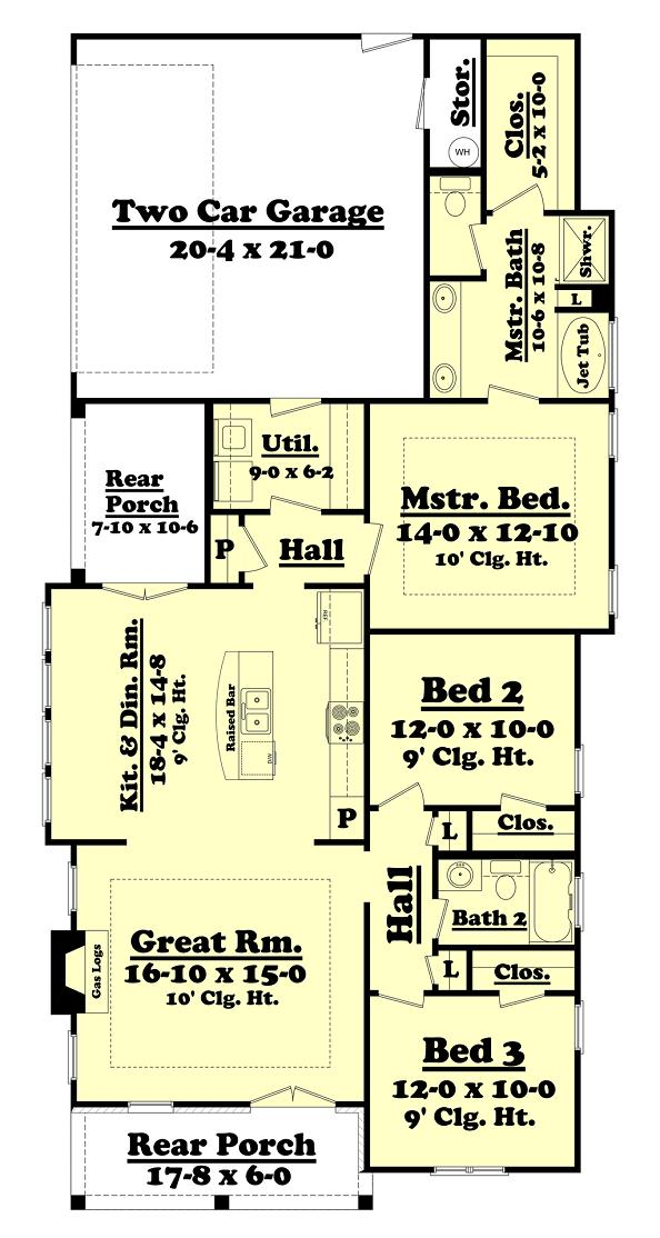 Plano de casa en esquina de tres dormitorios y 135 metros for Casa de 40 metros cuadrados
