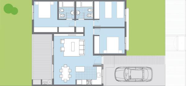 casa sauco de 3 dormitorios del plan pro cre ar planos de