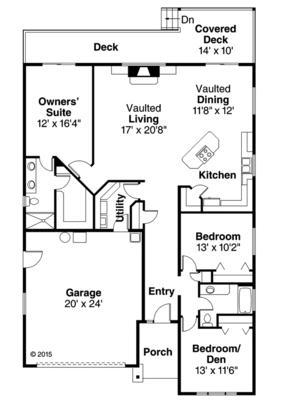 plano casa clasica de 3 dormitorios