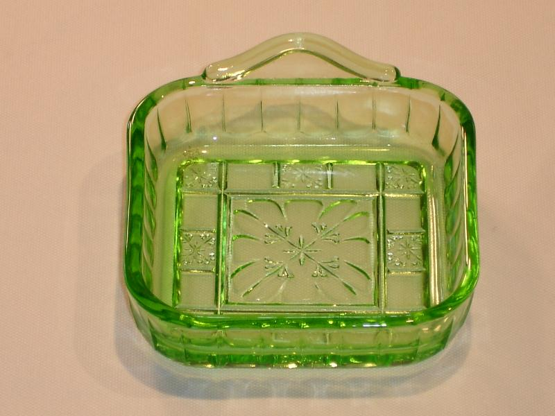 Tray Green Depression Glass -- Pattern Identification And Photos