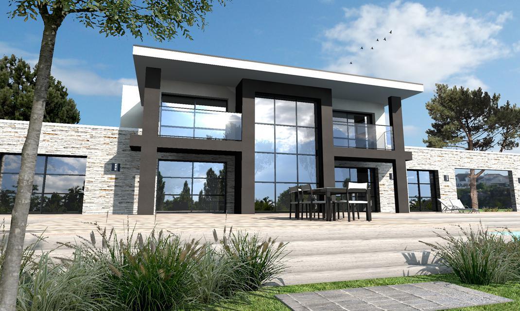 Plan De Maison Moderne A Vendre