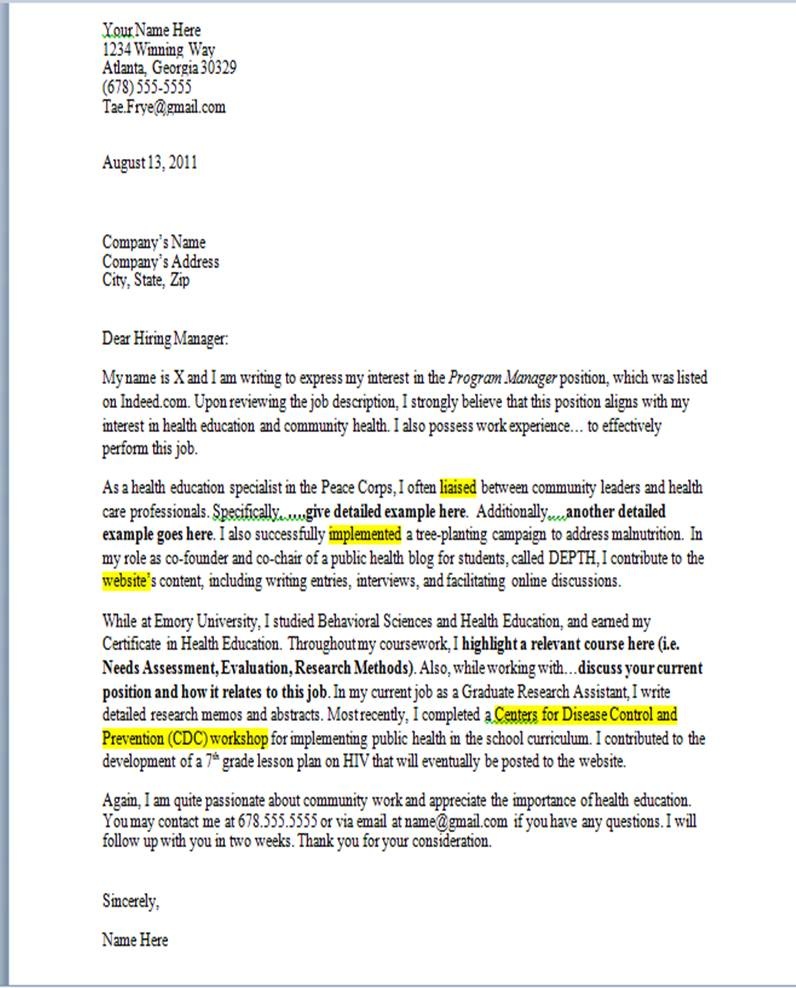 cover letter examples for recent graduate professional resume cover letter examples for recent graduate cover letter examples for students and recent graduates cover letter