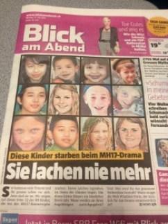 Diese Zeitung hilft den Lesern das Drama zu verarbeiten. Ach ja, das Recht am eigenen Bild hört mit dem Tod übrigens nicht auf.