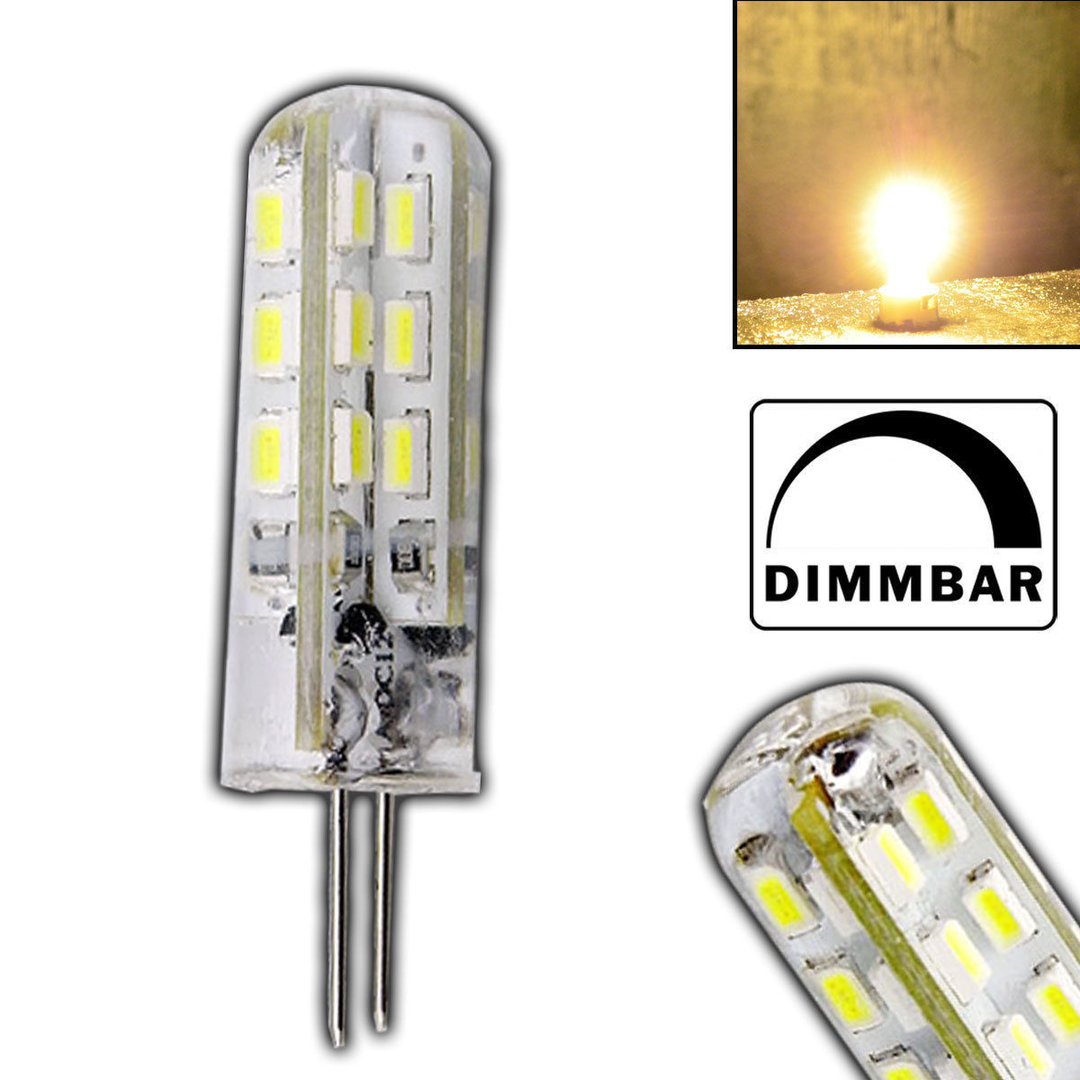 Led 12v Dimmbar G4 Led 1 5 Watt Lampe Dimmbar Warmweiss 12v Dc 24 Smd