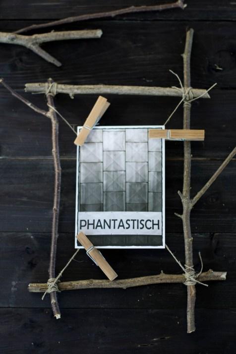 Waldspaziergang – einfacher DIY Rahmen aus Stöcken  Der