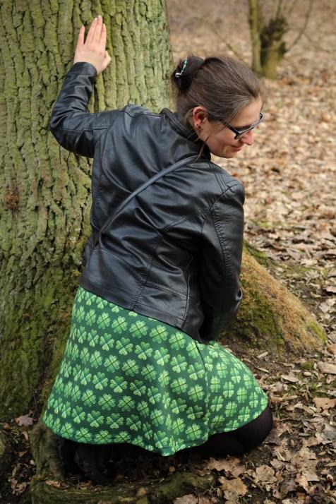 Kleid St Patricksday grün kleeblatt 21