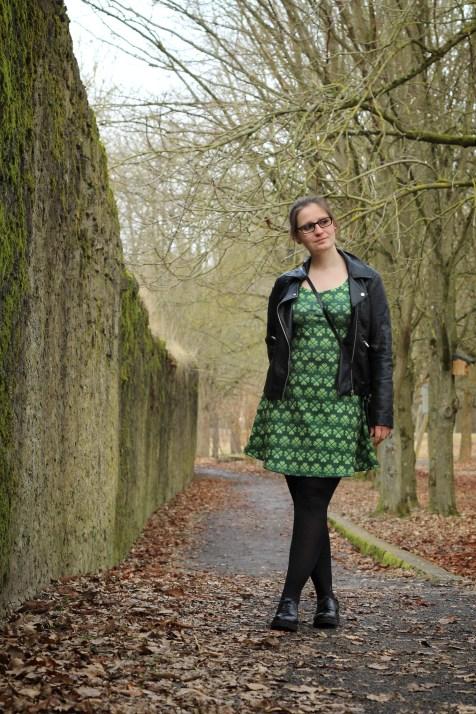 Kleid St Patricksday grün kleeblatt 8