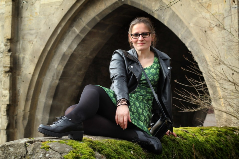 Kleid St Patricksday grün kleeblatt13