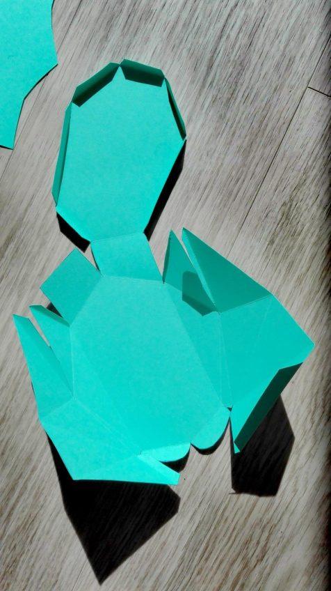 Papierhase DIY Bild Ostern 3