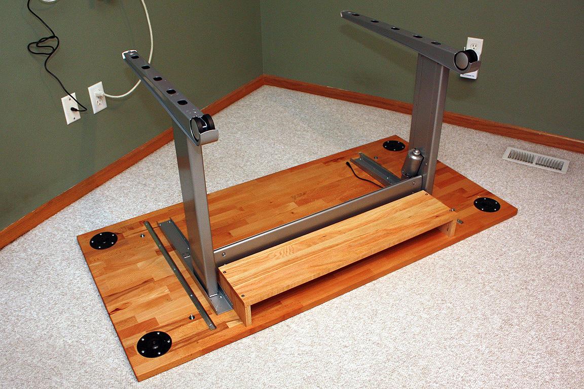V2 Ikea Butcher Block Desk With Geek Desk Mini Frame And