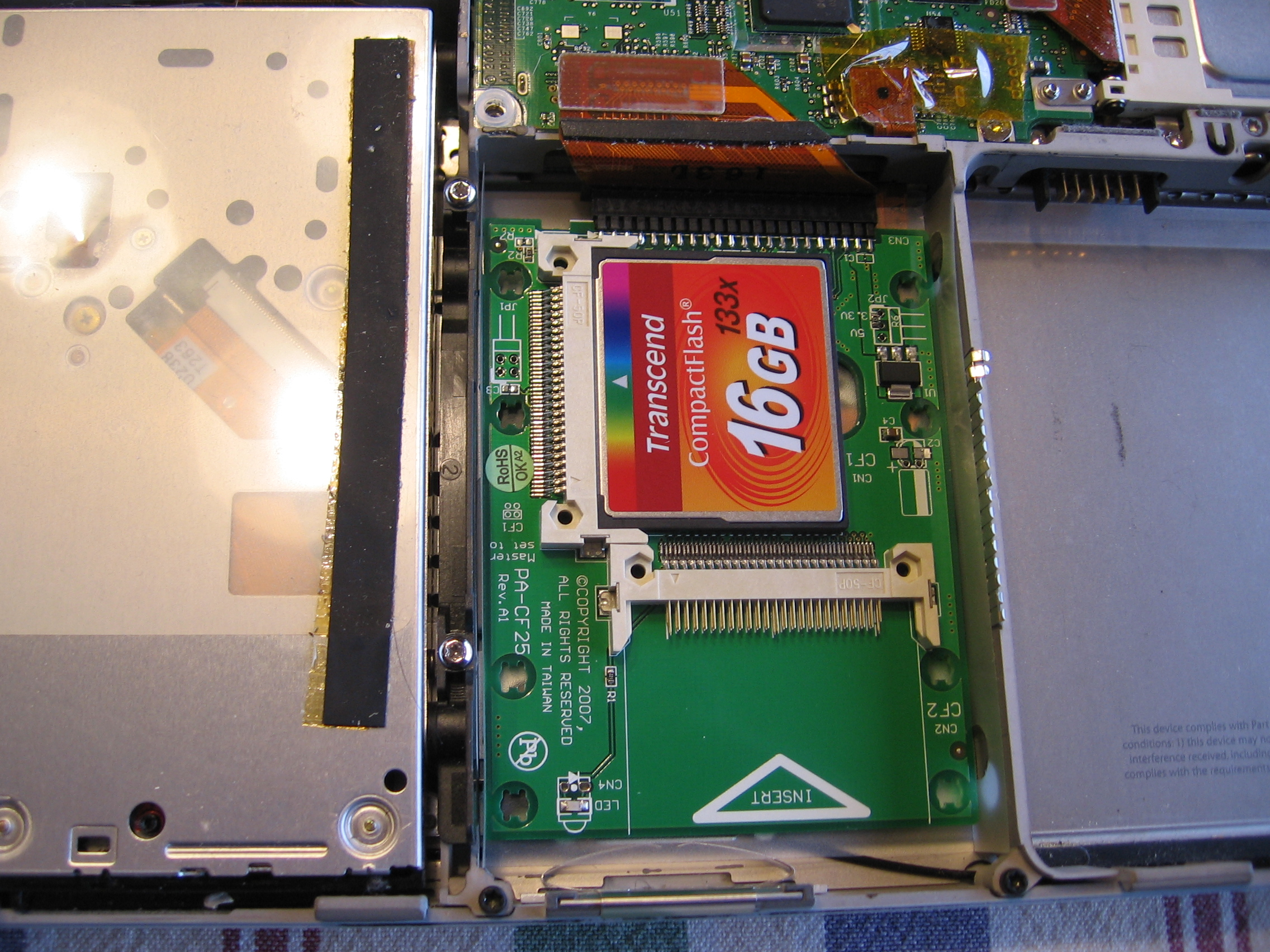 Compact Flash Hard Drive Replacement Booting My Tibook From Compactflash Retromaccast