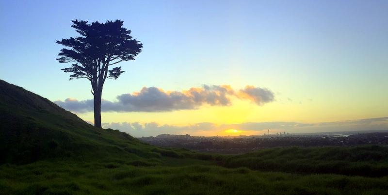 Art of Adventure Derek Loudermilk New Zealand North Island Auckland Mt. Wellington Sunset