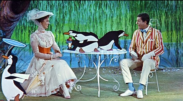 Pingouin Mary Poppins Mary Poppins ***** (1964, Julie Andrews, Dick Van Dyke