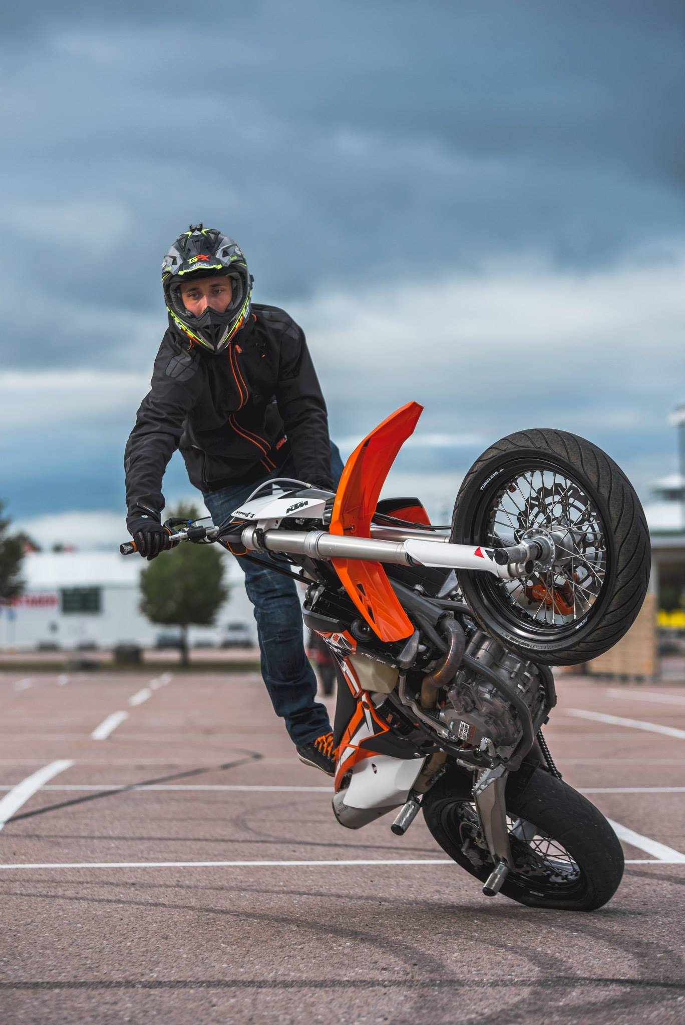 Ktm Motocross Wallpaper Hd Ktm Supermoto Stunts 450 Exc Amp Freeride E 2015