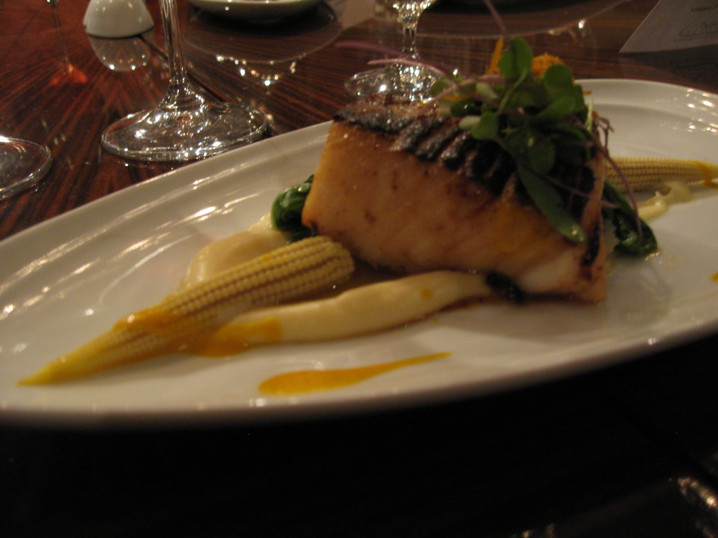 Baby Cod Miso Brushed North Atlantic Black Cod With Sauteed Baby Corn Bok