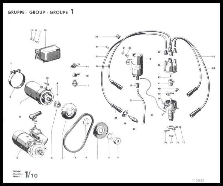 diagram engine 1956 mercedes benz