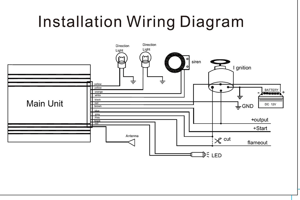 motorcycle alarm wiring diagram