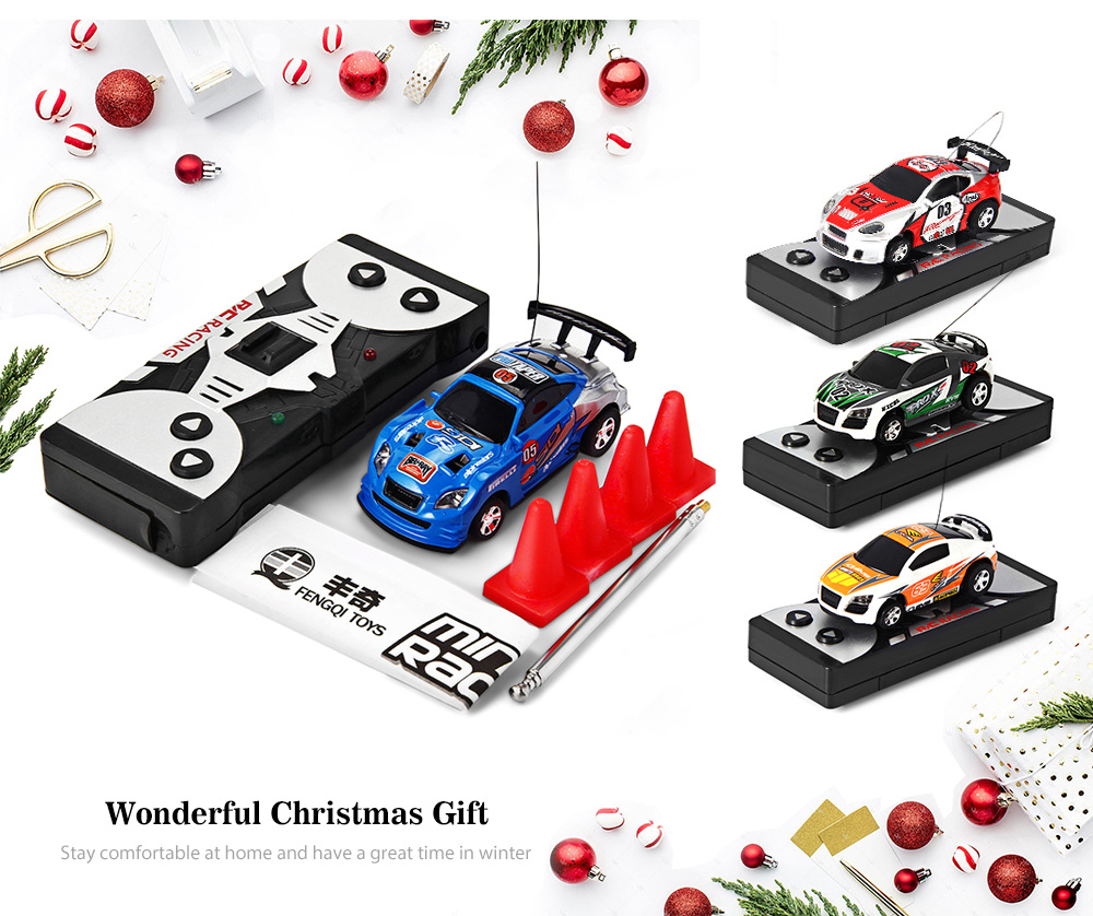 Car Rc 1 63 Coke Can Mini Rc Racing Car Kids Gift