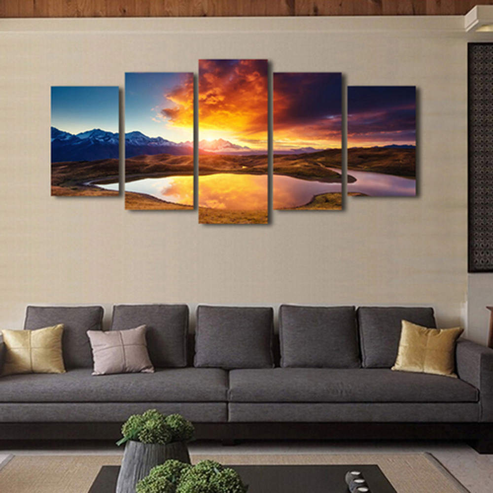 Printing Canvas 5pcs Combination Printing Canvas Wall Decoration
