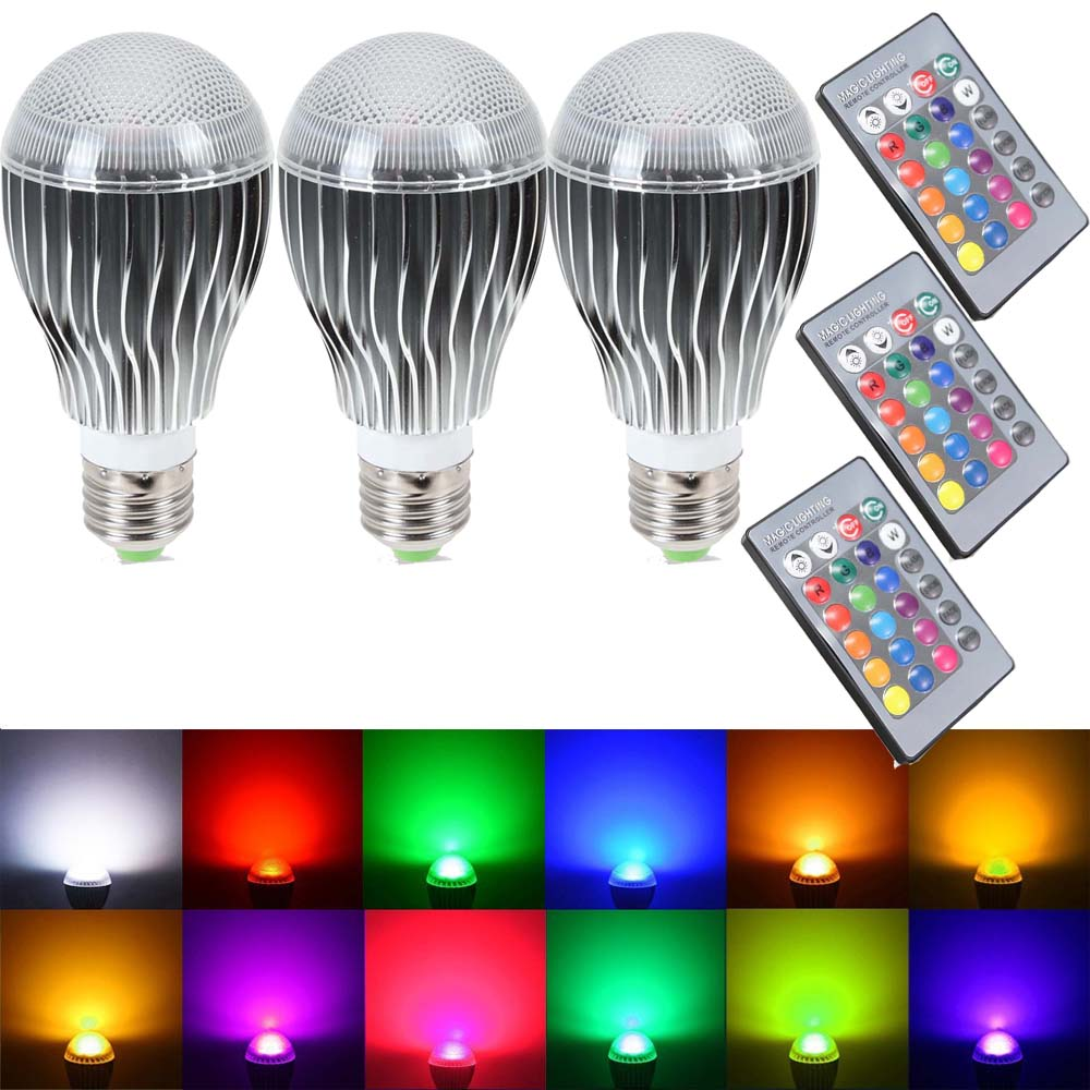Led Bulbs Rgb Led Bulb E27 E14 16 Color Changing Light Candle Bulb Rgb Led Spotlight Lamp Ac85 265v Supli Led Light Bulb 10w Rgb Color Changing Dimmable Led Light Bulbs With Remote Control
