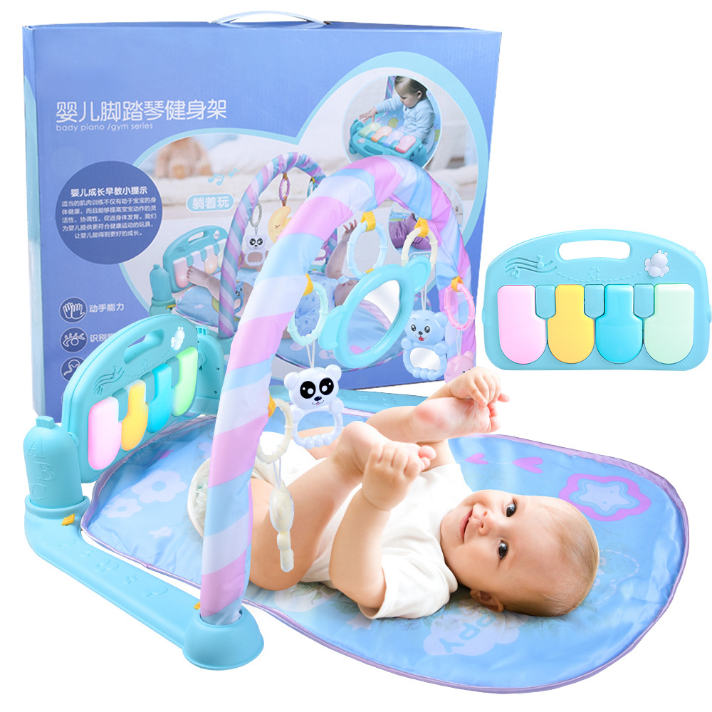 How To Play Newborn On Piano Activity Soft Play Mat Fitness Frame With Piano Pedals Toddler Music Game Newborn Baby Toy