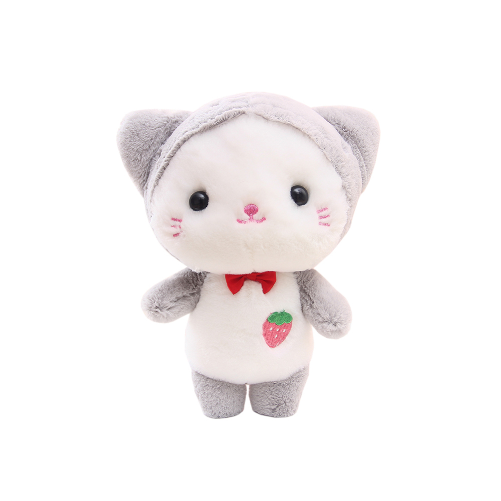 Cat Plush Toy Super Cute Adorable Strawberry Baby Cat Pussy Rabbit Doll Plush Toy