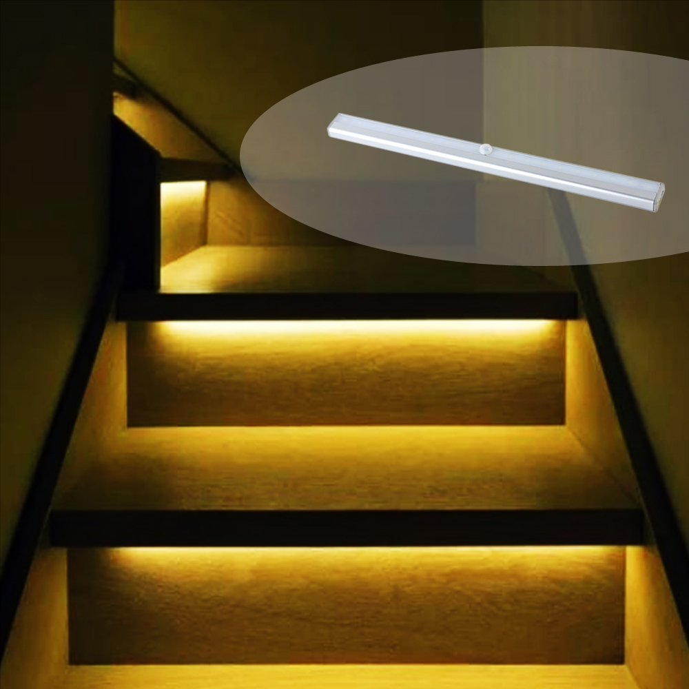 Jb Lighting Wireless Portable Rechargeable Wireless Infrared Sensor Led Staircase Lights